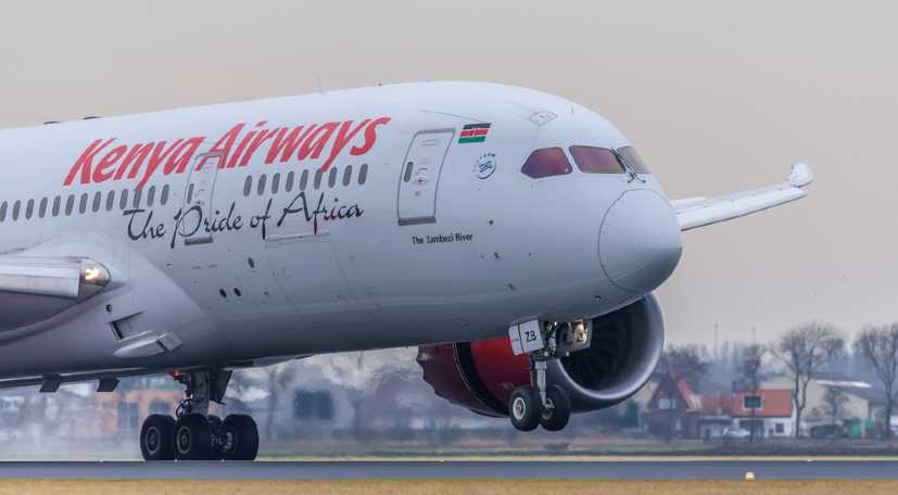 Kenya Airways passenger flights